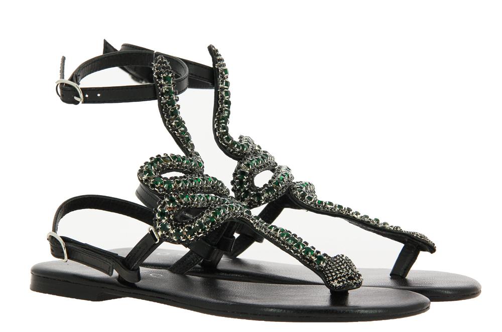 Mosaic thong sandals BLACK