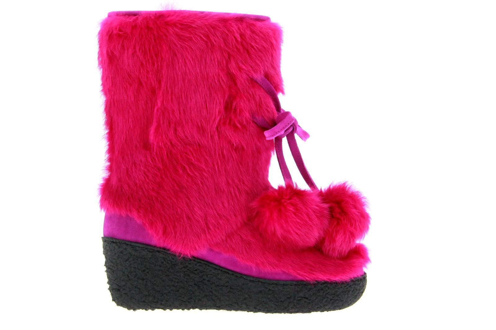 Diavolezza fur boots LAPIN PINK