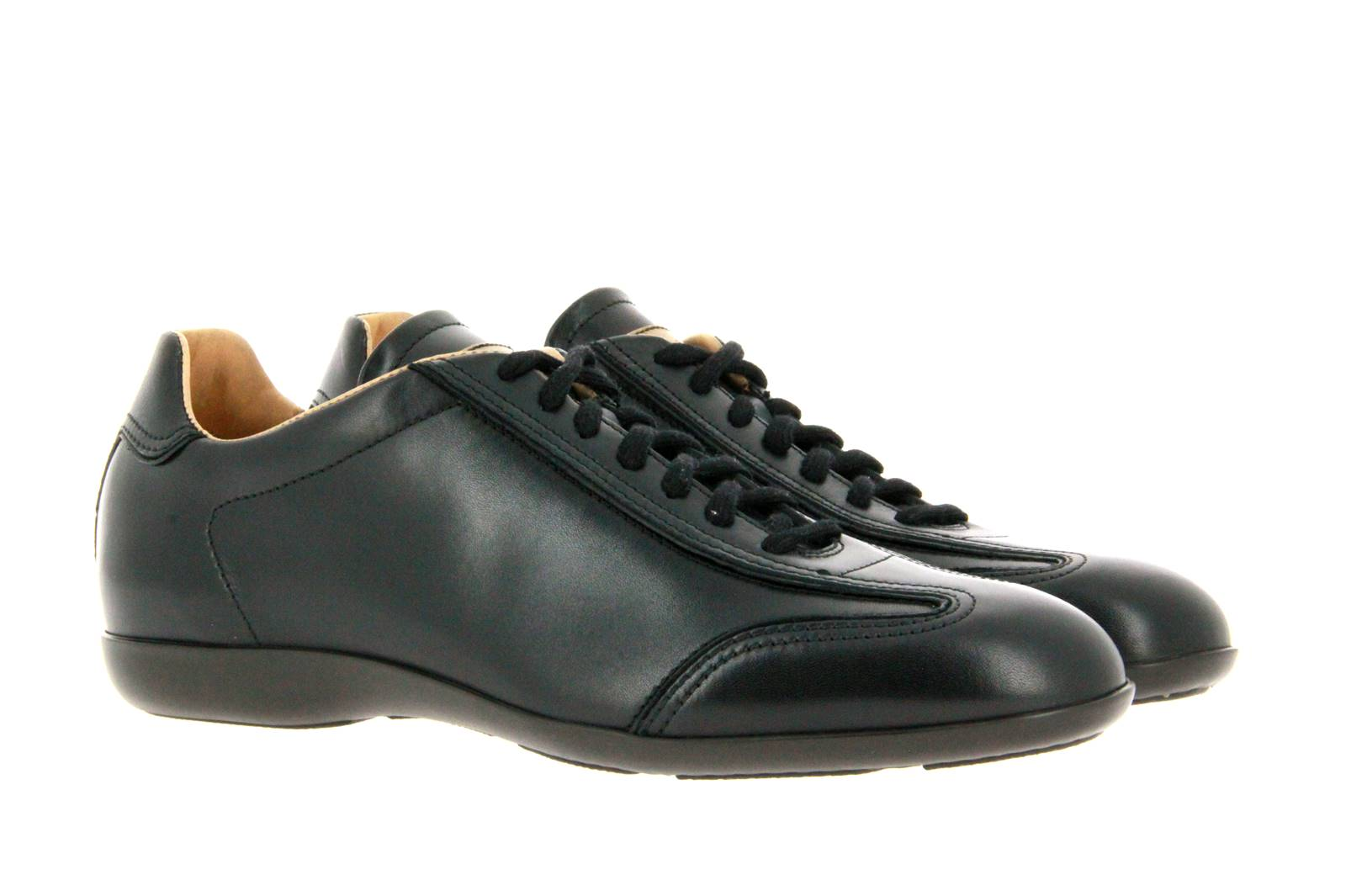 Santoni sneaker LEATHER BLACK