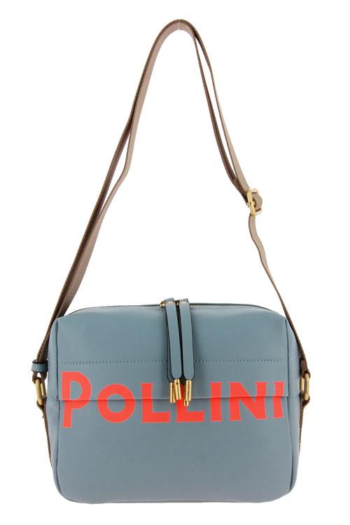 Pollini bag BORSA SOFT GRAINED SKY
