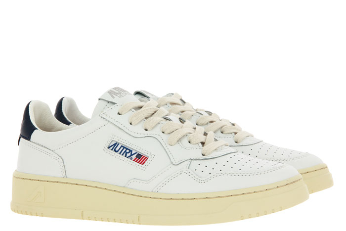 Autry sneaker LOW MAN LEATHER WHITE/BLUE
