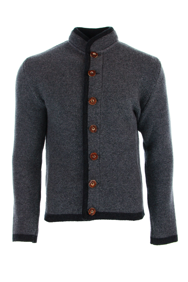 Liebling Tyrolean jacket THOMAS ll STEHKRAGEN GRAU