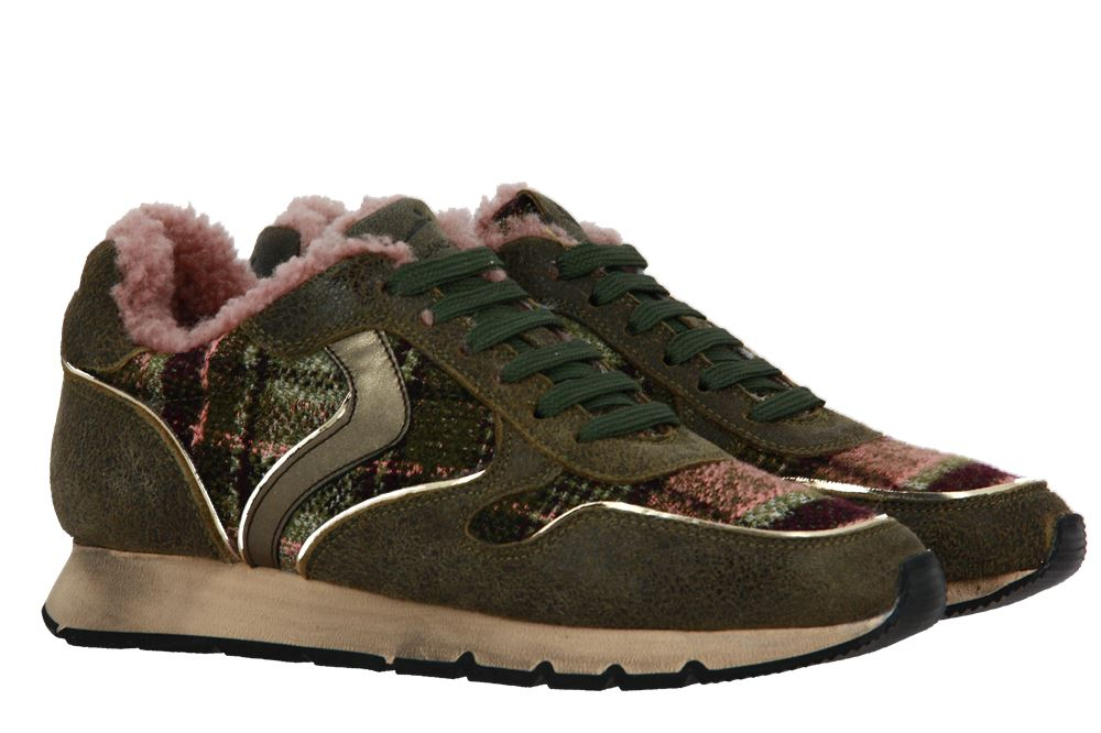 Voile Blanche sneaker lined JULIA GOAT RING MILITARE ROSA