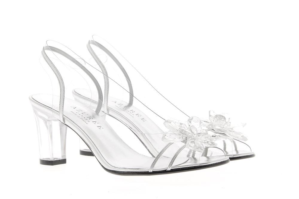Azuree Cannes sandals NEKA METAL ARGENT MOTIF CRISTAL