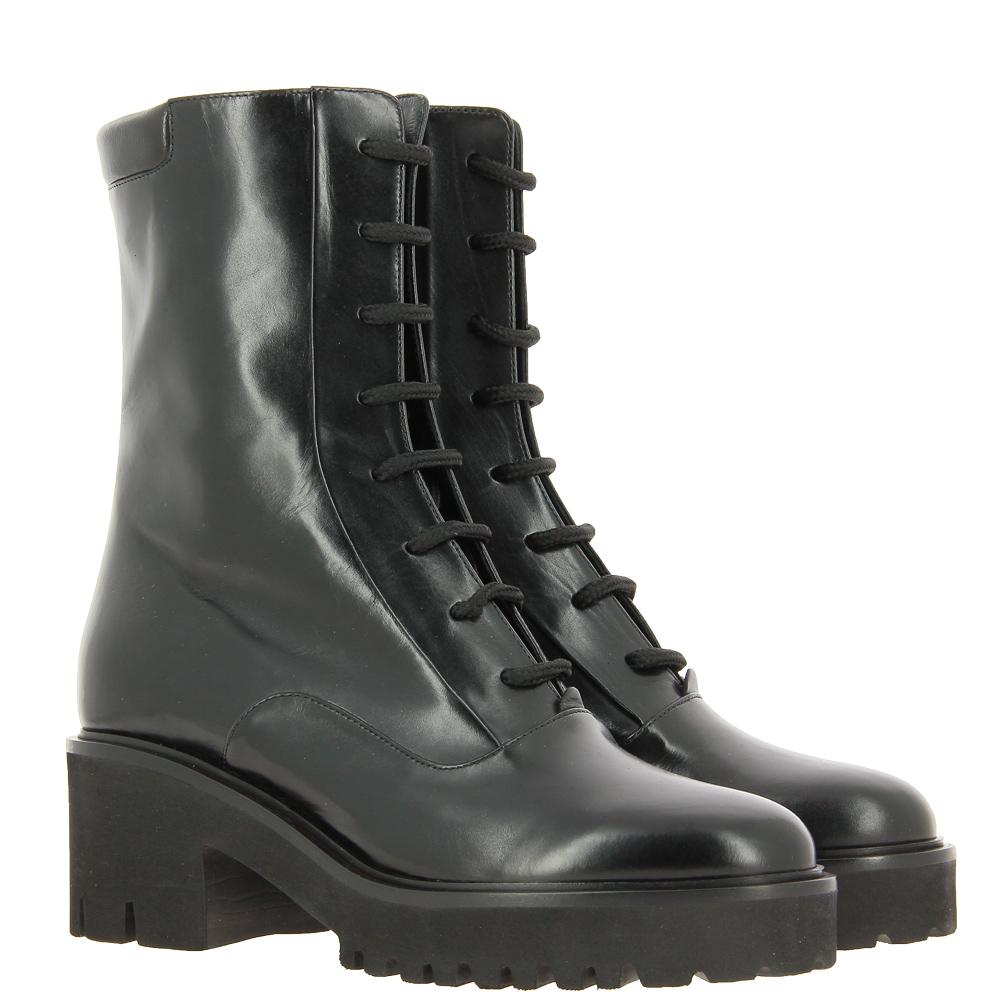 Truman's lace-up boots VITELLO NERO TACCO