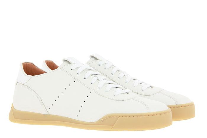 Santoni sneaker LEATHER WHITE