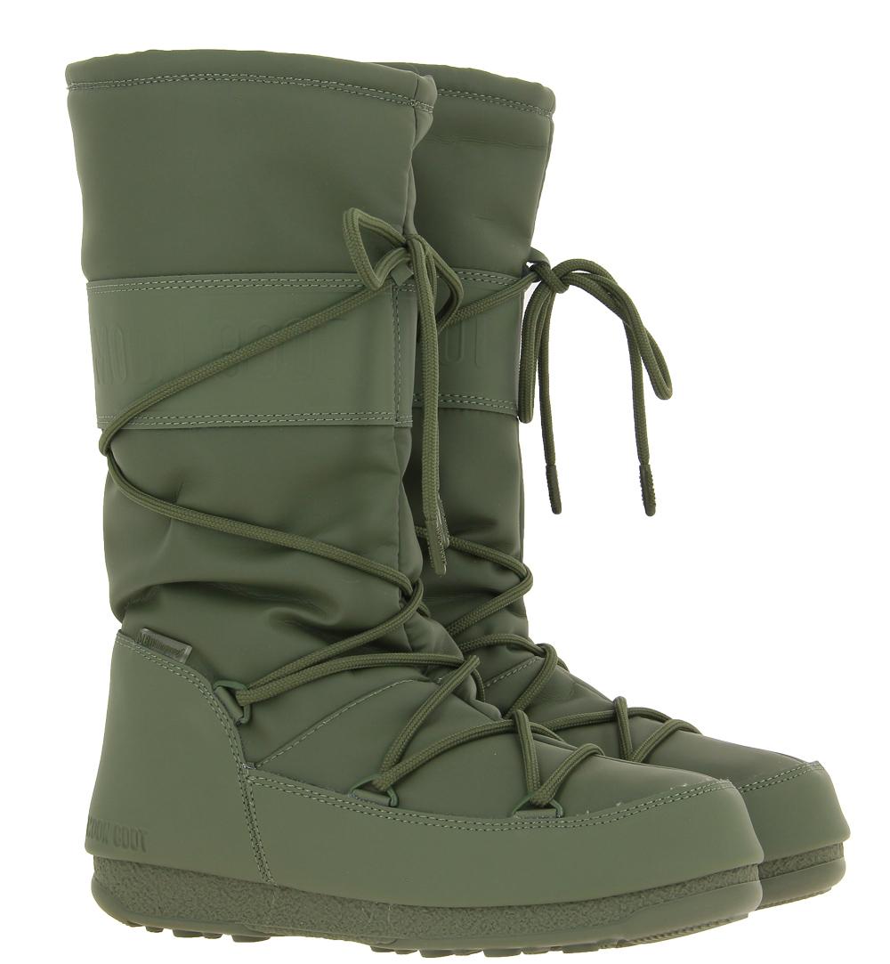Moon Boots boots HIGH RUBBER WP KHAKI