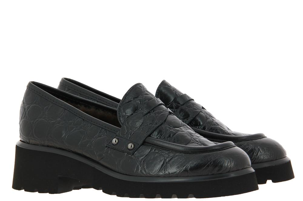 Brunate slipper lined PEMBI KROKO NERO