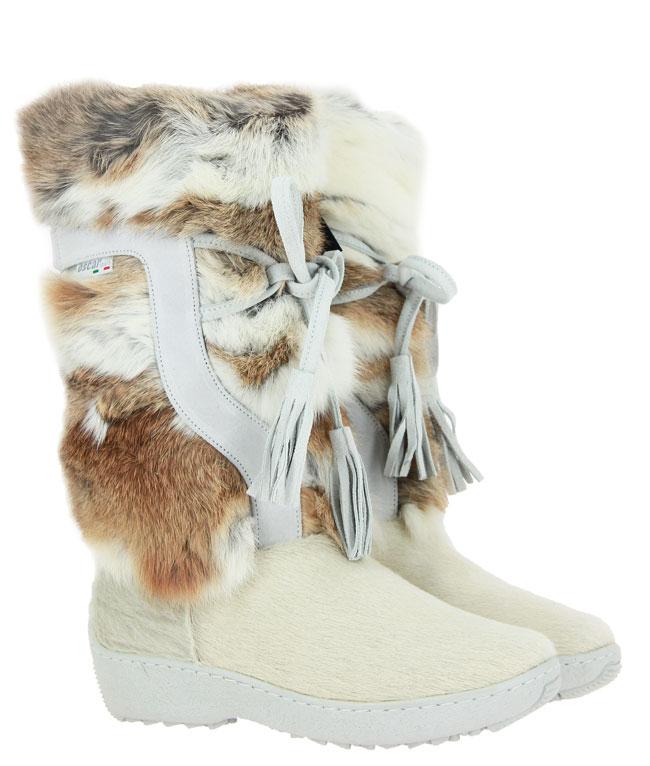 Oscar fur boots TANIA WEISS