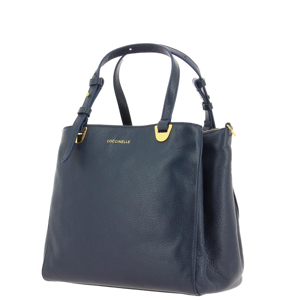Coccinelle handbag LEA MAXI ASH GREY BLAU