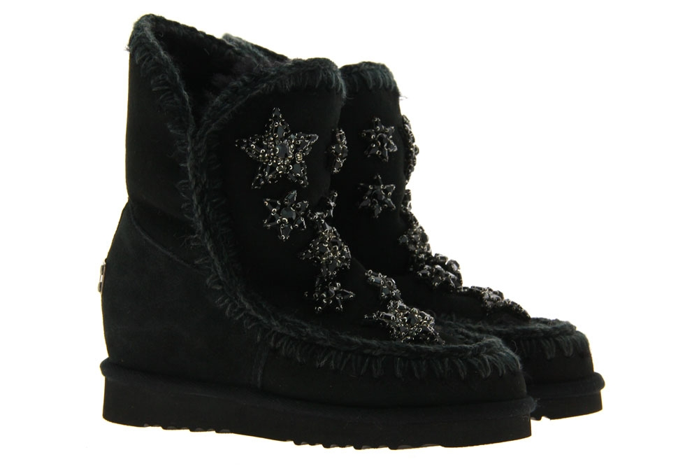 mou boots INNER WEDGE SHORT CRYSTAL STARS