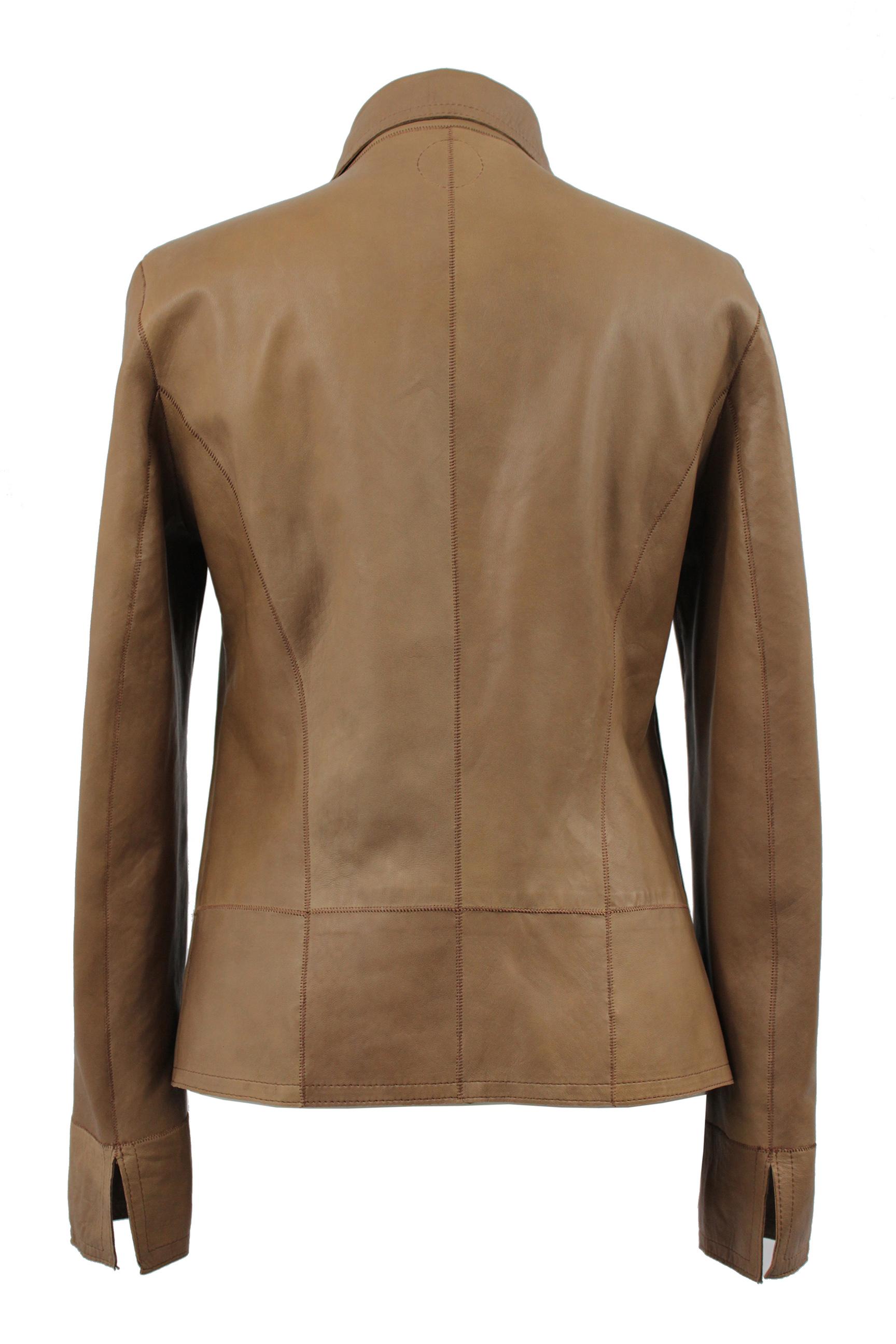 Christine Becker reversible jacket SNAKY PYTHON PRINT COGNAC
