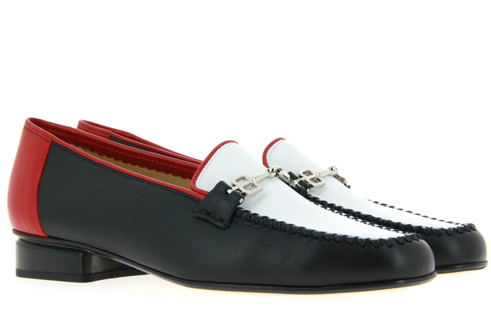 Brunate loafer NAPPA BLU BIANCO ROSSO