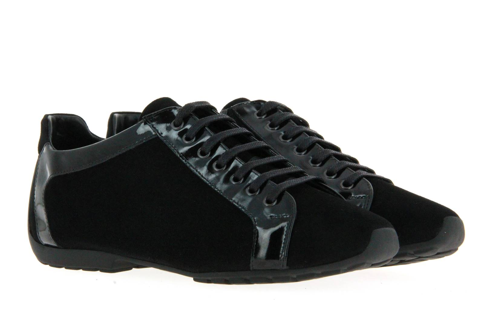 Mania sneaker CAMOSCIO PIUMA NERO