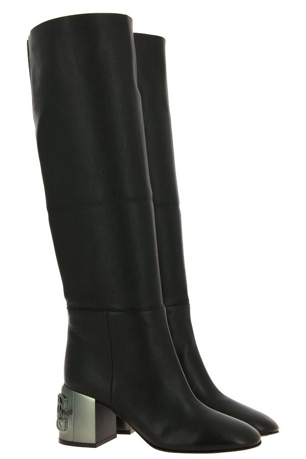 Casadei boots C-CHAIN NERO DOUBLE FACE