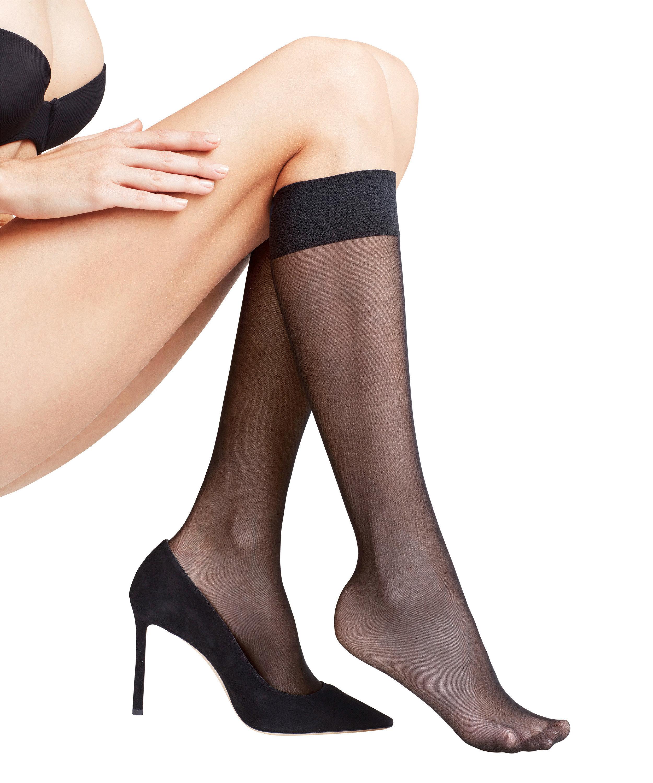 FALKE Matt Deluxe 20 DEN ladies knee socks BLACK