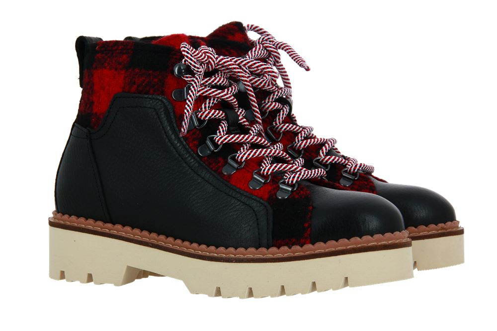 Scotch & Soda ankle boots OLIVINE LEATHER FLANNEL BLACK RED