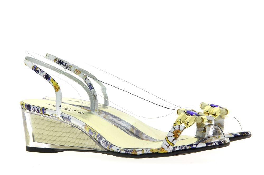 Azuree Cannes wedge sandal NOCHU 930D VERNIS FOULA BLEU