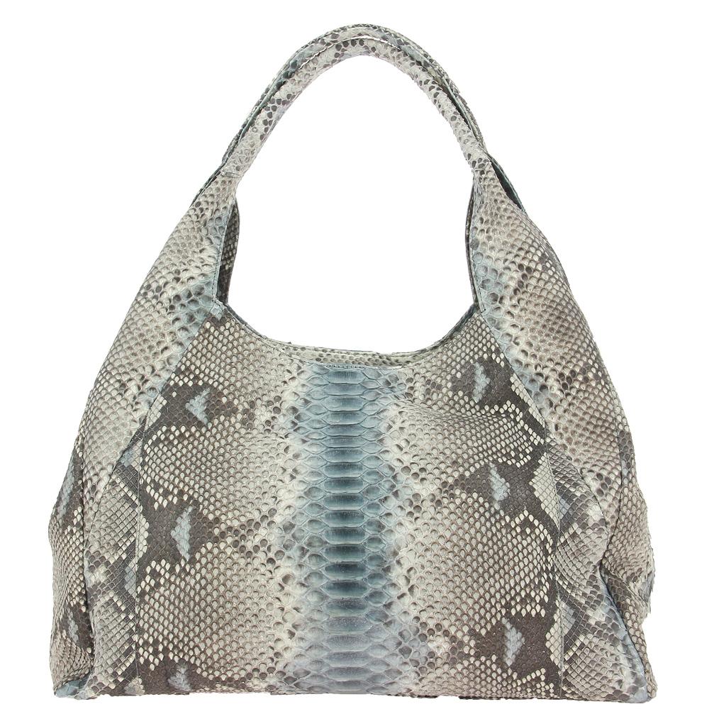 Ghibli handbag PITONE BLUE WHITE 780