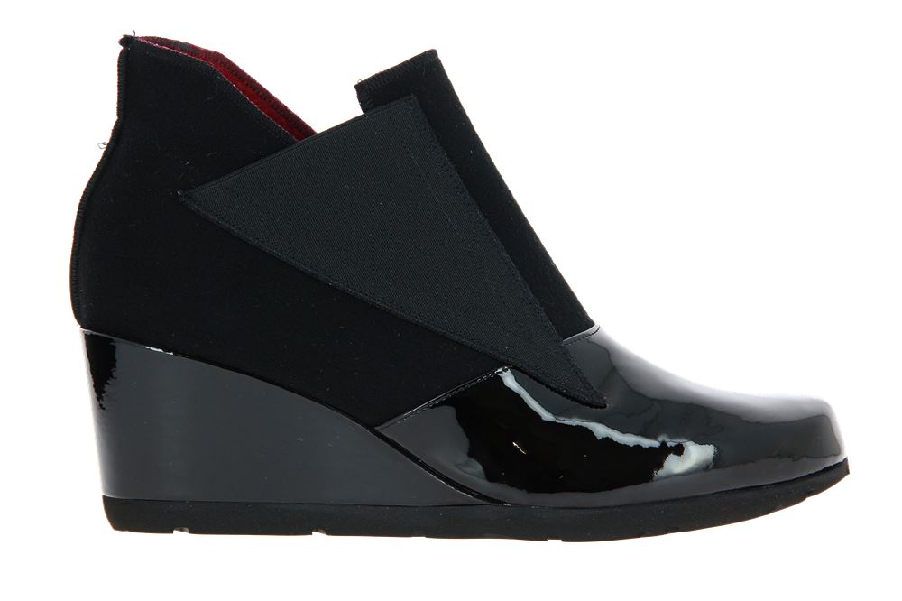 Thierry Rabotin wedge ankle boots ISIDORO LACK NERO