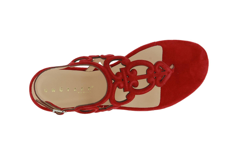 Unützer sandals VELOUR ROSSO