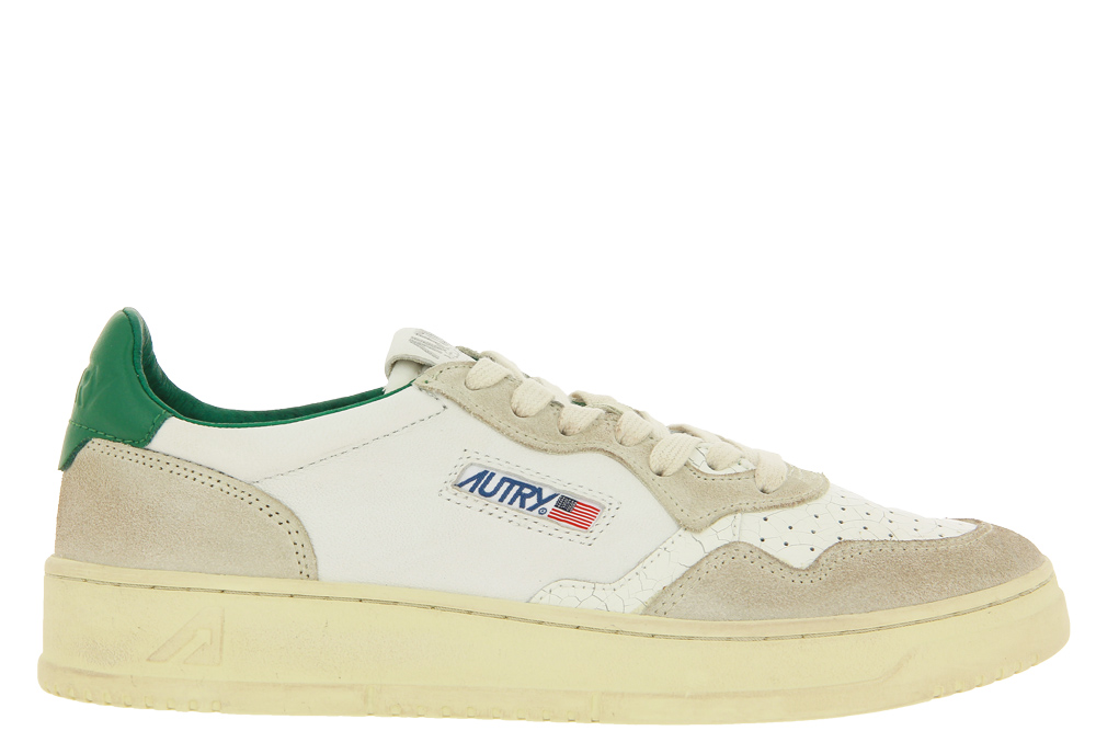 Autry Sneaker MEDALIST CRACKLE WHITE GREEN
