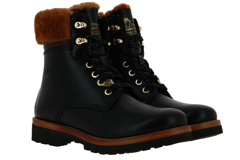 Panama Jack ankle boots lined 03 IGLOO BROOKLYN B3 NAPPA NEGRO