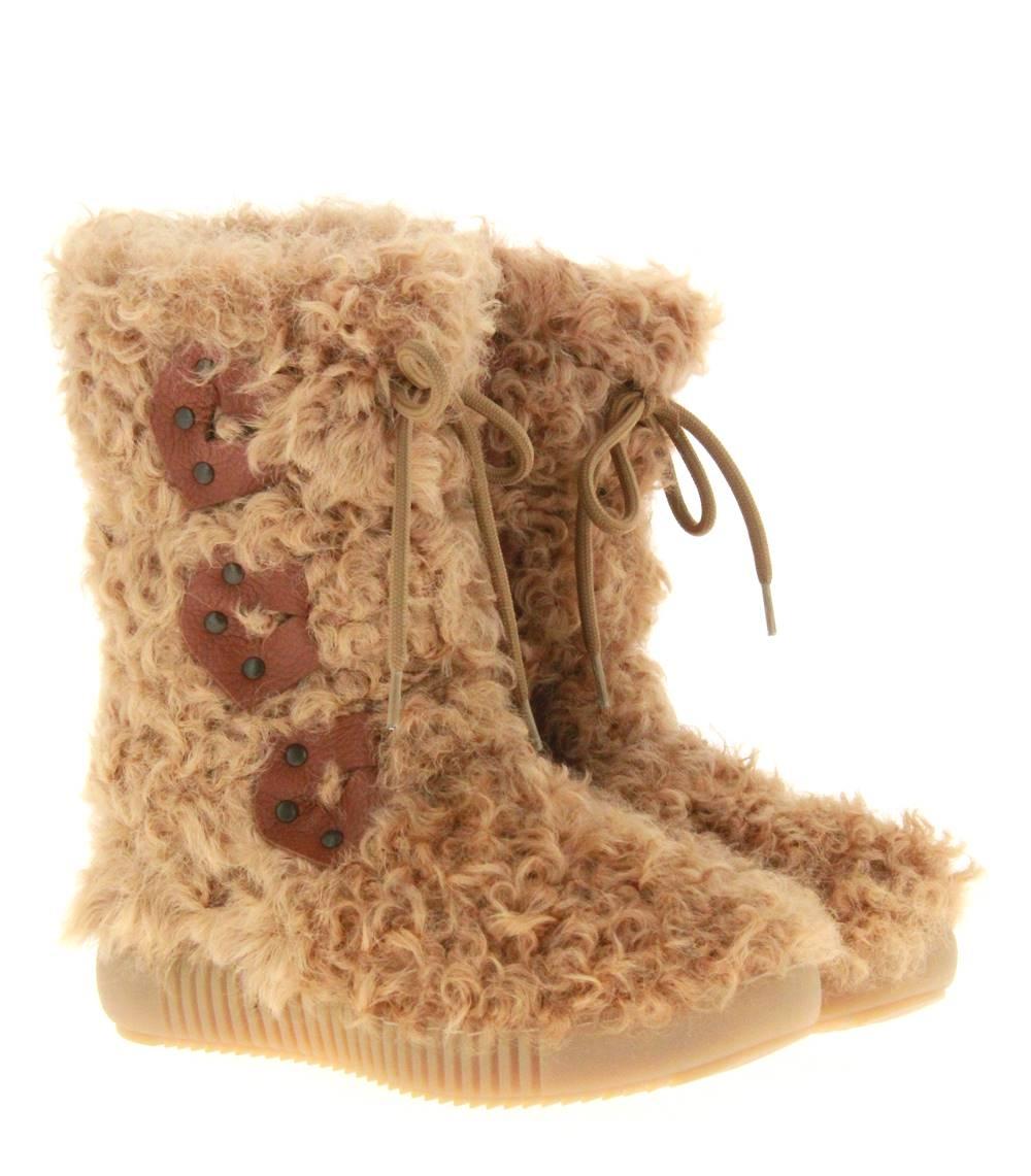 Oscar Sport fur boots ROSITA BEIGE