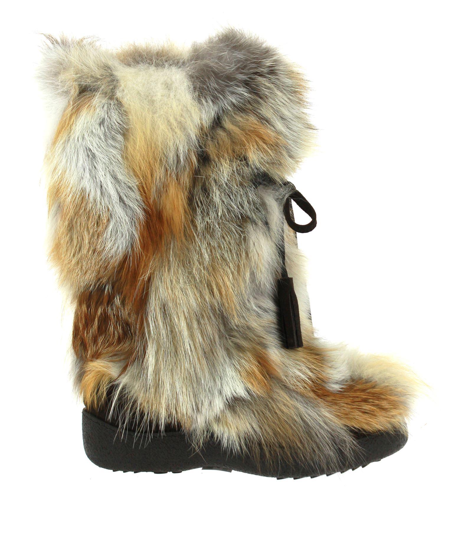 Diavolezza Fur Boot FOXY ROSSO - Fox Fur