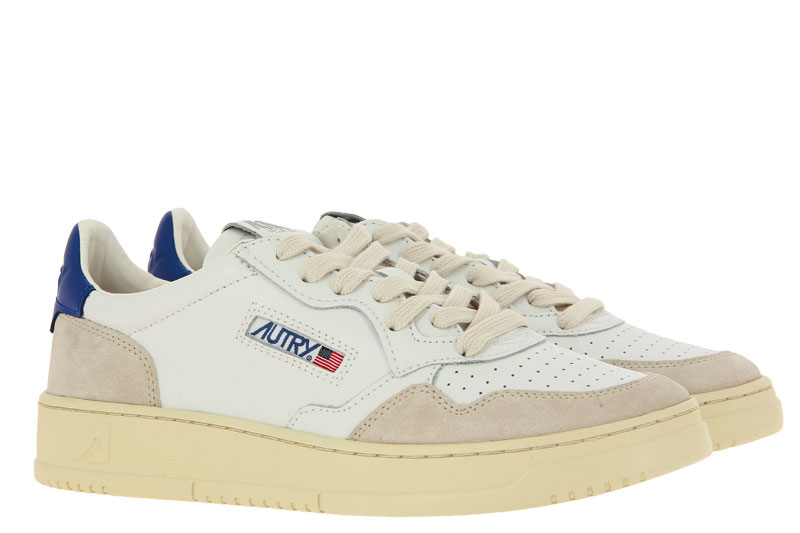 Autry sneaker LOW MAN LEATHER SUEDE WHITE NAVY