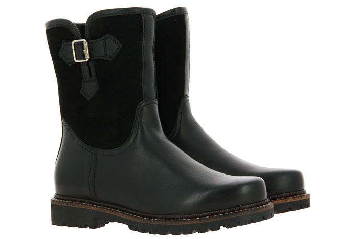 Dirndl + Bua ankle boots lined PANIOLO VELOUR SCHWARZ