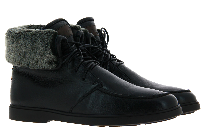 Santoni ankle boots lined CERVO NERO