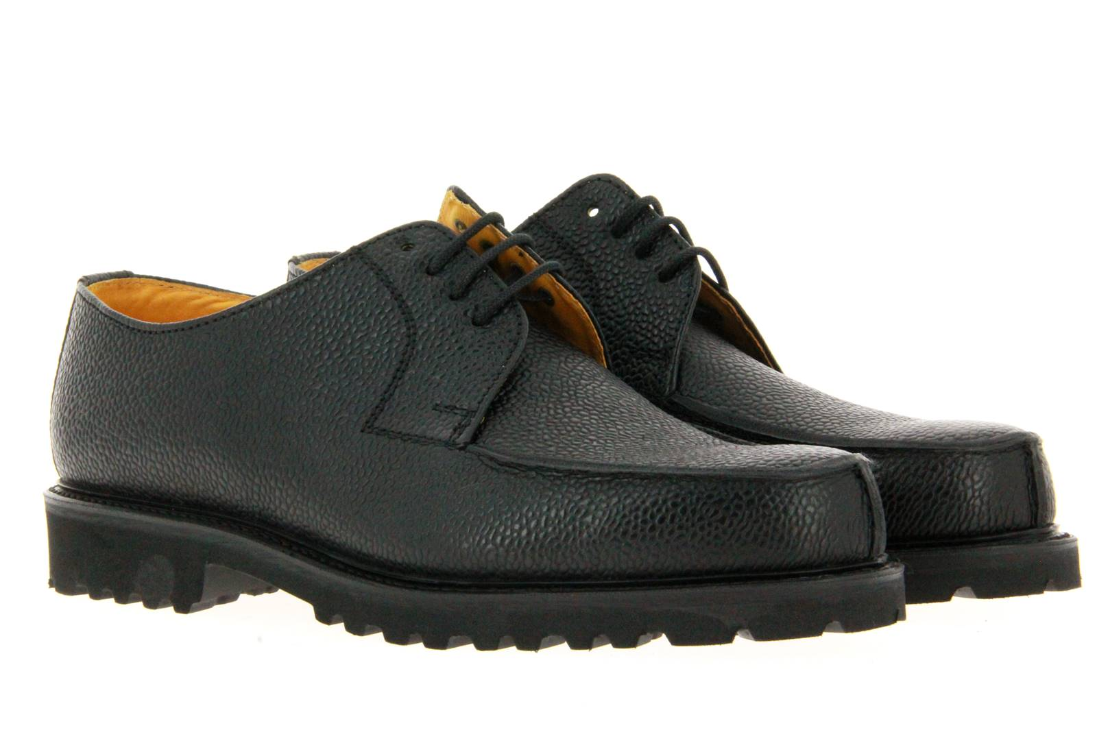 Ludwig Reiter lace-up WACHAUER SCOTCH GRAIN BLACK