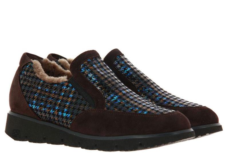 Brunate slipper lined IRIS CAMOSCIO MORO BRITISH BLACK