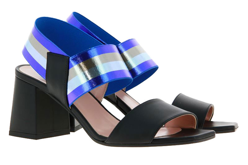 Pollini sandals VITELLO NERO BLU