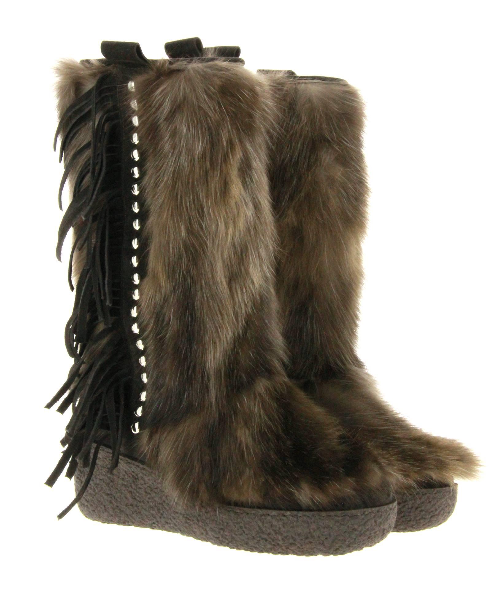Diavolezza sable- fur boots ZIBELLINO EXCLUSIVE