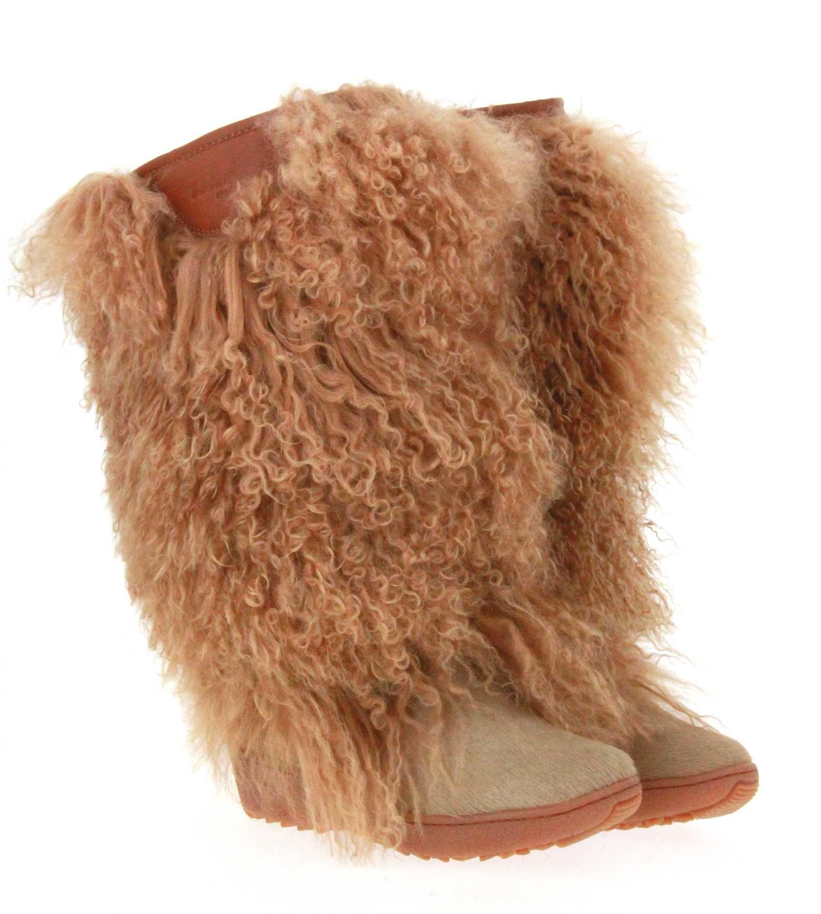 Oscar Sport fur boots DORIS-18 BEIGE