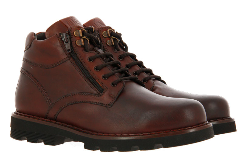 Galizio ankle boots lined VITELLO KING COGNAC