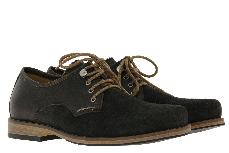 dirndl + bua traditional lace-up shoe ANTIKBOCK SANTIAGO AHORN OLIV
