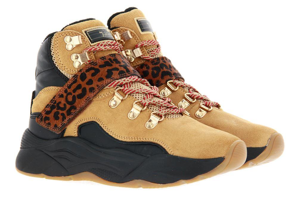 Scotch & Soda high top sneaker CELEST SUEDE LEATHER CAMEL/BLACK
