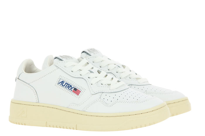 Autry sneaker LOW WOMAN LEATHER WHITE
