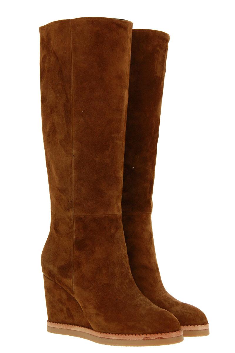 Lola Cruz wedge boots CUERO TAN