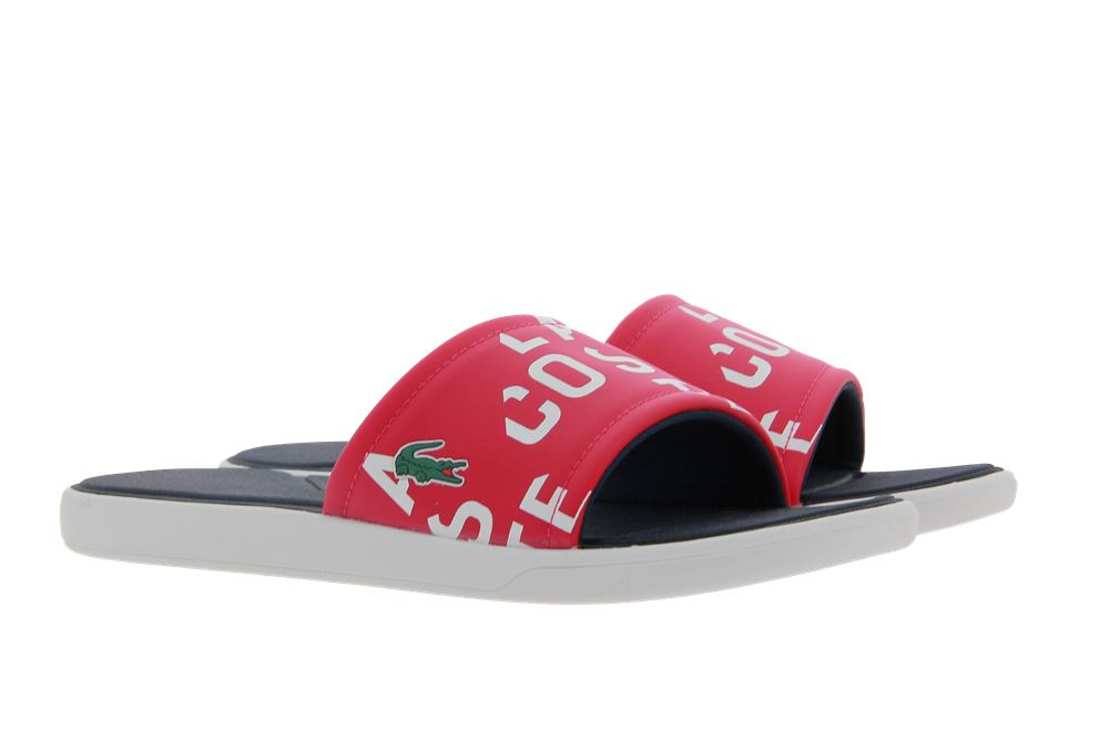 Lacoste mules SLIDE RED SYNTHETIC
