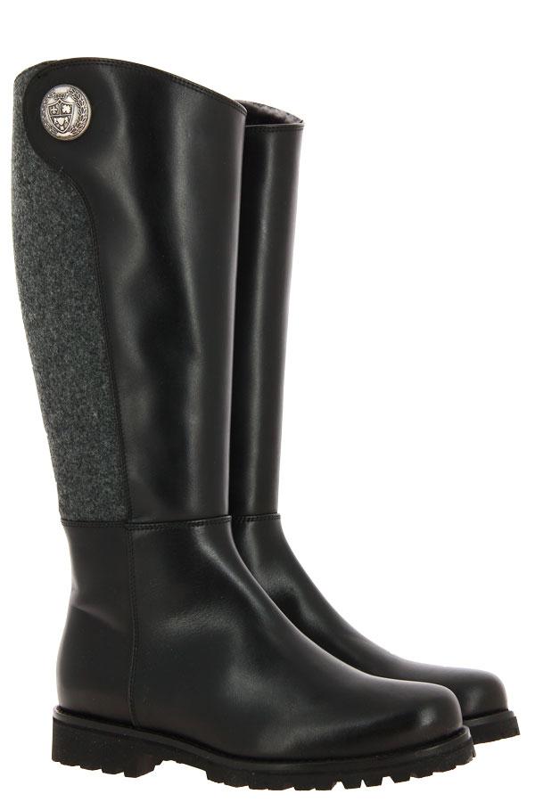 Dirndl + Bua boots lined TENDER LODEN SCHWARZ GRAU