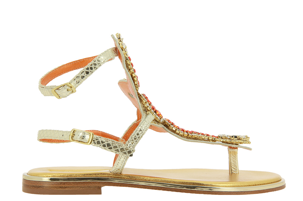 Paola Fiorenza sandals SERPENTE ARANCIO