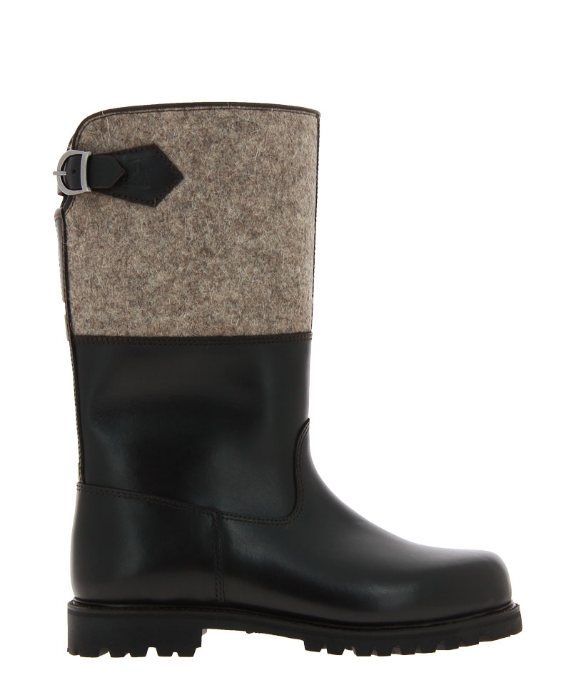 Ludwig Reiter boots lined MARONIBRATER RIND DUNKELBRAUN GRAU