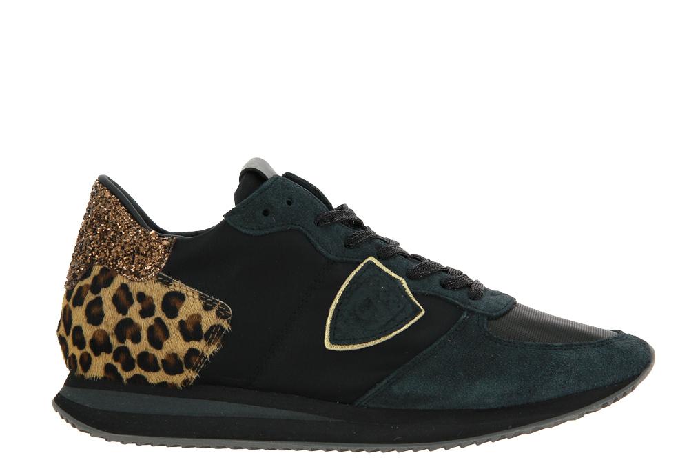 Philippe Model sneaker TROPEZ LOW WOMAN LEO MIXAGE NOIR BEIGE