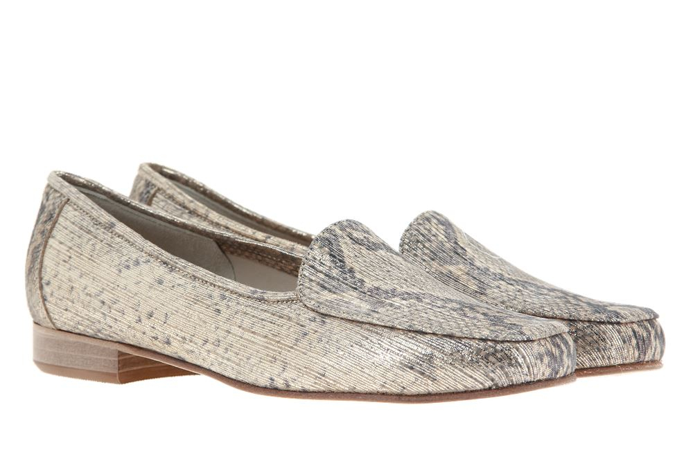 Gabriele slipper TANIA ANIMAL SUEDE PLATINO