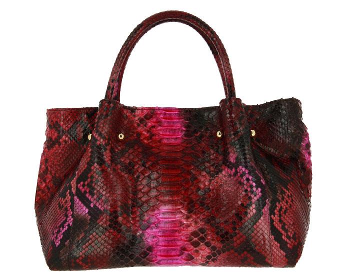 Ghibli handbag PITONE FUCHSIA
