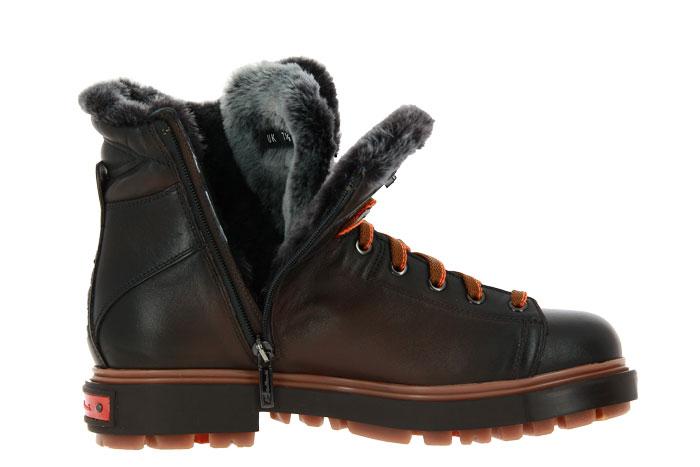Santoni boots lined LAMB NAPPA BROWN